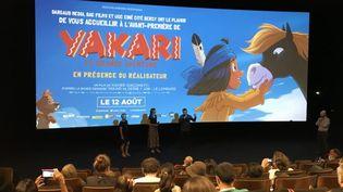 """Projection du film """"Yakari"""" en présence du réalisateur Xavier Giacometti (Paris, juillet 2020). (FRANCIS FORGET)"""