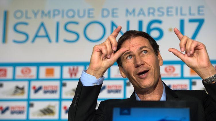 Rudi Garcia, l'entraîneur de l'Olympique de Marseille. (BERTRAND LANGLOIS / AFP)