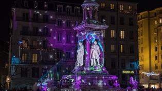 A Lyon, les monuments s'animent pour la Fête des Lumières, du 8 au 10 décembre 2016. (CITIZENSIDE/FRANCK CHAPOLARD / CITIZENSIDE)