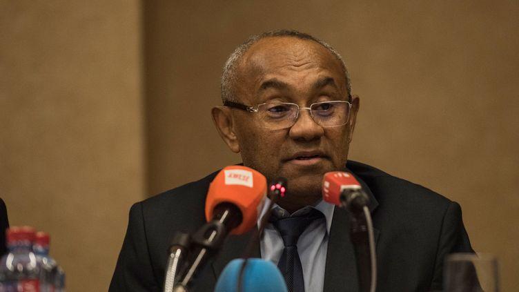 Ahmad Ahmad, président de la CAF (CRISTINA ALDEHUELA / AFP)