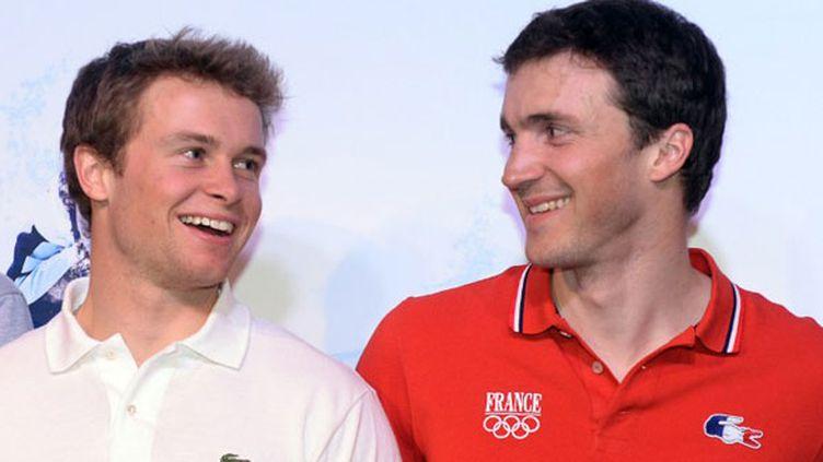 Les deux skieurs français Alexis Pinturault et Steve Missillier