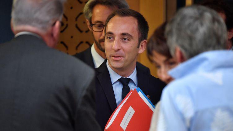 Le collaborateur de Richard Ferrand, Jean-Marie Girier, le 30 juillet 2018 à Paris. (GERARD JULIEN / AFP)