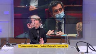 Emmanuel Grégoire, premier adjoint à la mairie de Paris, le 28 novembre 2020 sur franceinfo. (FRANCEINFO / RADIOFRANCE)
