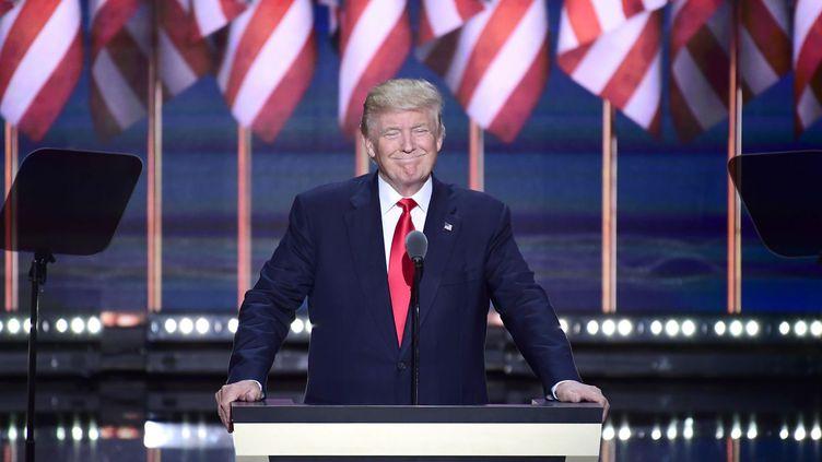 Donald Trump à Cleveland pour l'investiture républicaine(22 juillet 2016) (AFP/Ron Sachs-DPA)
