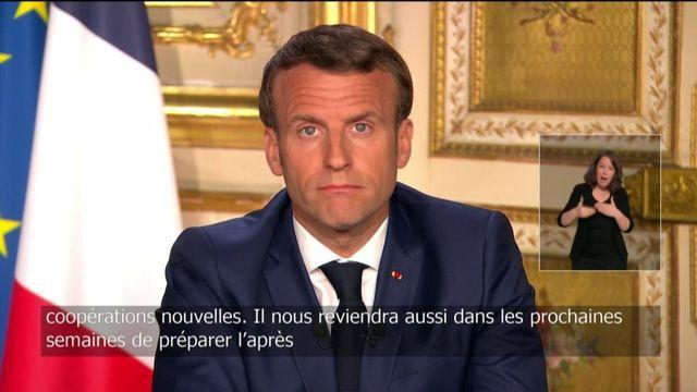 """""""Il nous reviendra de préparer l'après"""", affirme Emmanuel Macron"""
