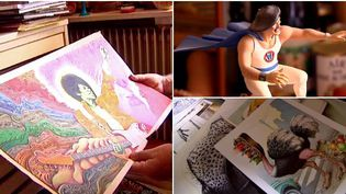 Dessinateur pour des revues satiriques, Solé laisse sa trace dans le monde de l'illustration depuis 45 ans dans  (France 3 / Culturebox)