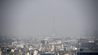 Une vue de Paris, le 18 mars 2015, lors d'un précédent pic de pollution. (FRANCK FIFE / AFP)
