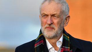 Jeremy Corbyn, ancien leader du patri travailliste britannique, à Whitby (Royaume-Uni), le 1er décembre 2019. (PAUL ELLIS / AFP)