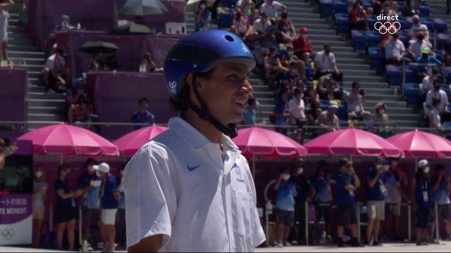 Pas de médaille pour le skateur tricolore Vincent Matheron en Park ! Il n'est pas parvenu à terminer un seul de ses trois runs en finale.