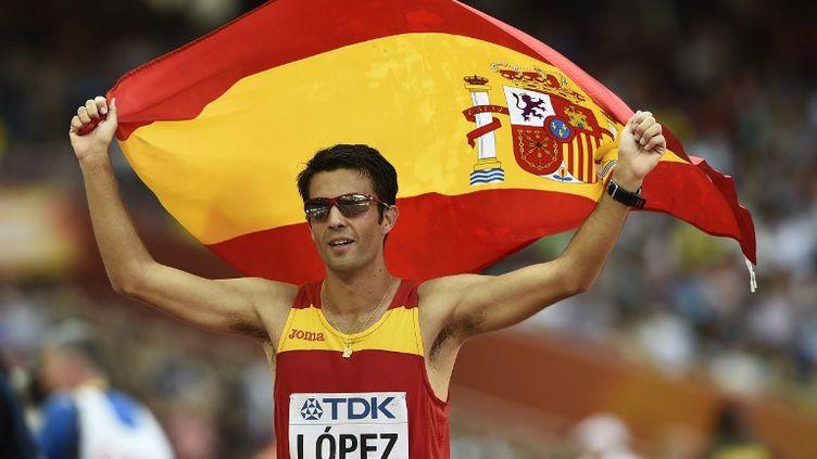 Miguel Angel Lopez, nouveau champion du monde du 20km marche (FRANCK FIFE / AFP)
