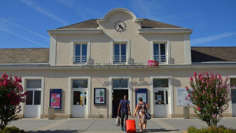 Gare SNCF de Sablé-sur-Sarthe (Sarthe). Photo d'illustration. (ALEXANDRE CHASSIGNON / FRANCE-BLEU MAINE)
