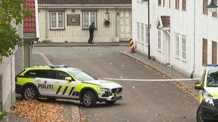En Norvège, un homme a tué cinq personnes et en a blessé deux autres à Kongsberg, dans le sud du pays, jeudi 14 octobre. Cette attaque à l'arc a été perpétrée dans plusieurs endroits de la ville. (CAPTURE ECRAN FRANCE 2)