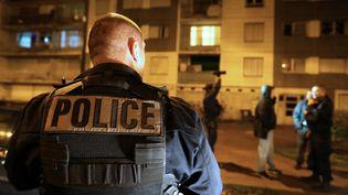 Des policiers interviennent à Sens (Yonne), vendredi 20 novembre 2015. (FRANCOIS NASCIMBENI / AFP)