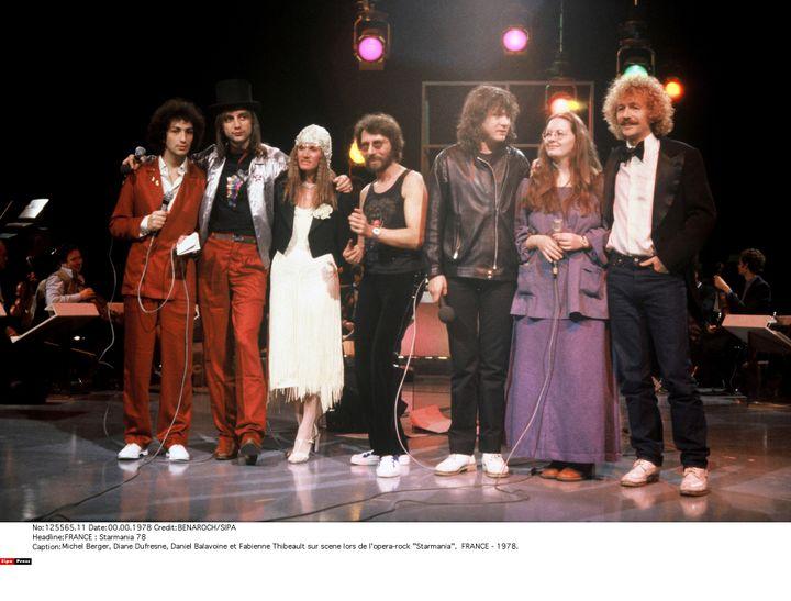 Une partie de la troupe de originale de Starmania (BENAROCH/SIPA / SIPA)