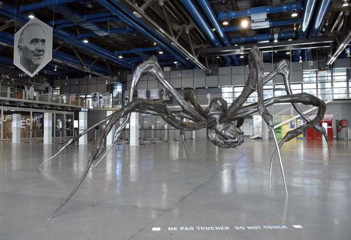 Araignée géante de Louise Bourgeois, rétrospective au Centre Pompidou en 2008  (STEPHANE DE SAKUTIN / AFP)