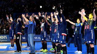 Les Français se qualifient pour la finale du Mondial de handball en battant la Slovénie, jeudi 26 janvier 2017. (FRANCK FIFE / AFP)
