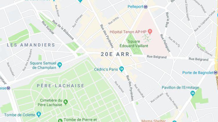Une violente agression homophobe a eu lieu le 23 juin 2019 rue des Pyrénées, dans le 20e arrondissement de Paris. (GOOGLE MAPS)