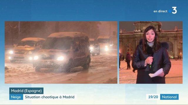 Tempête Filomena : à Madrid, une ville totalement paralysée