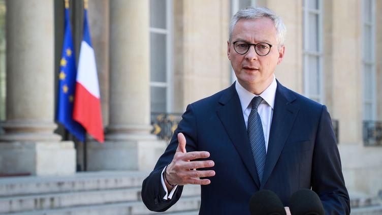 Le ministre de l'Economie, Bruno Le Maire, le 24 avril 2020, à l'Elysée, à Paris. (LUDOVIC MARIN / AFP)