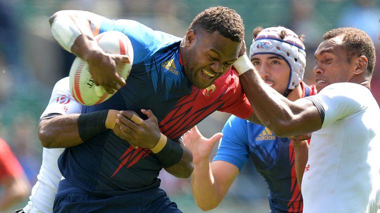 Virimi Vakatawa, l'une des stars de l'équipe de France et du rugby à VII mondial (OLLY GREENWOOD / AFP)