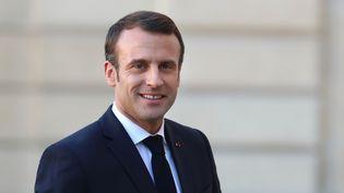 Emmanuel Macron, à l'Elysée, à Paris, le 25 février 2019. (MUSTAFA YALCIN / ANADOLU AGENCY / AFP)