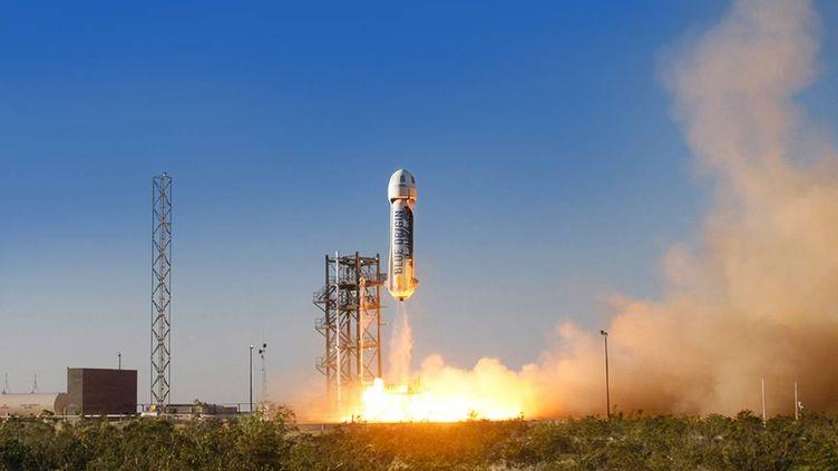 Projet de lancement d'une fusée par Blue Origin, propriété d'Amazon, sur le site internet de l'entreprise. (BLUE ORIGIN.COM)