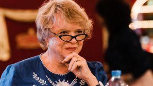 Eva Joly avant un meeting Europe Ecologie les Verts au Cirque d'Hiver à Paris le 21 mai 2019. (KARINE PIERRE / HANS LUCAS)
