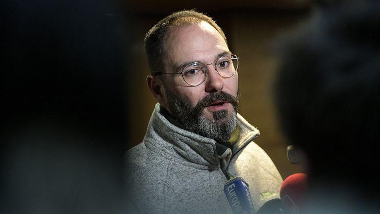 François Devaux lors du procès du père Preynat, le 14 janvier 2020. (MAXIME JEGAT / MAXPPP)