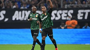 Wesley Saïd a marqué le but de la victoire face à l'Olympique de Marseille dimanche 26 septembre. (CHRISTOPHE SIMON / AFP)