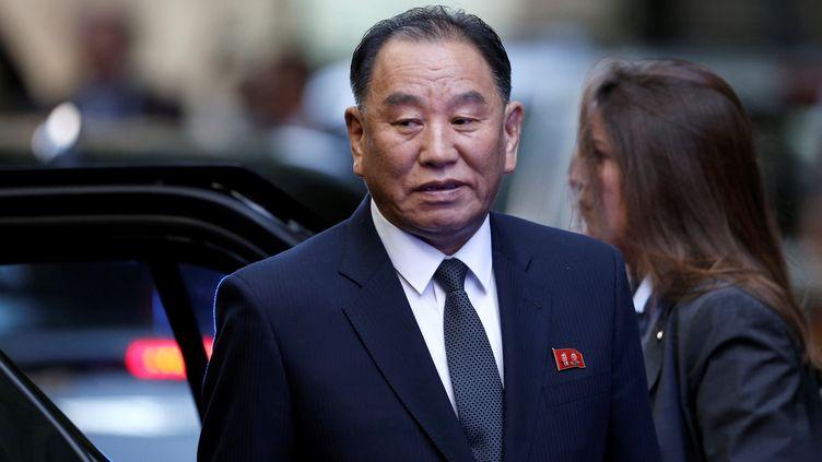 Le général nord-coréen Kim Yong-chol à New-York (Etats-Unis), le 30 mai 2018. (ATILGAN OZDIL / ANADOLU AGENCY / AFP)