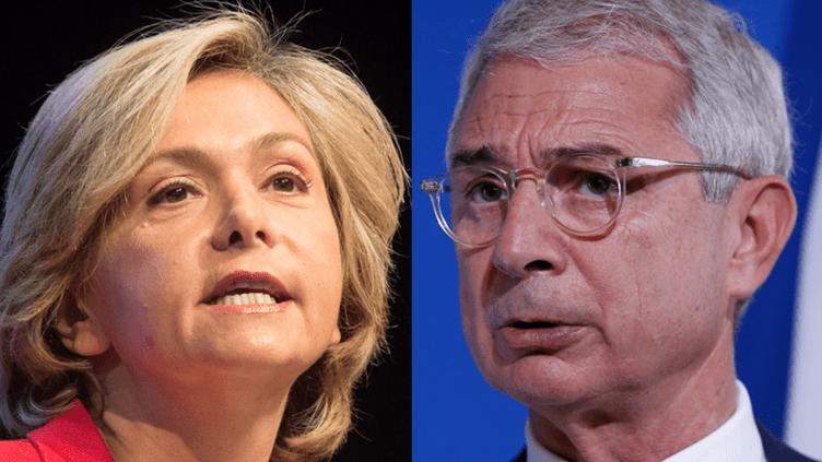 Valérie Pécresse, tête de liste Les Républicains en Ile-de-France, et Claude Bartolone, tête de liste PS. ( AFP )