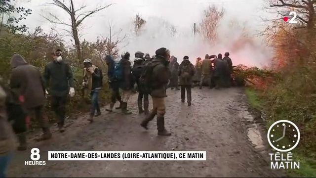 La ZAD de Notre-Dame-des-Landes en train d'être évacuée