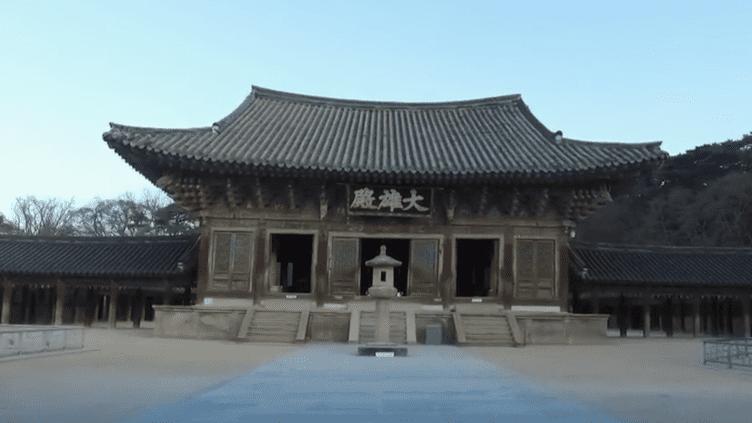 Temple bouddhiste en Corée du Sud. (FRANCE 2)