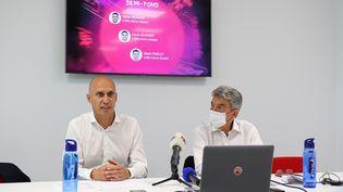 Florian Rousseau en tant que directeur de la haute performance de la Fédération française d'athlétisme, le 2 juillet 2021. (ANTOINE DECOTTIGNIES - STADION-ACTU / MAXPPP)