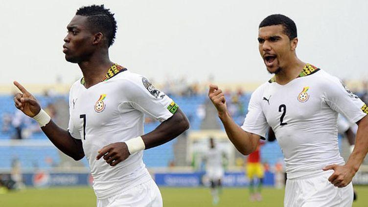 Les Ghanéens Christian Atsu et Kwesi Appiah (MOHAMED HOSSAM / ANADOLU AGENCY)