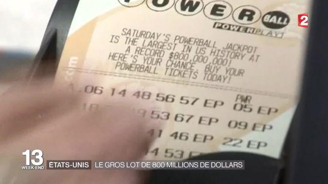 Une loterie à 800 millions de dollars