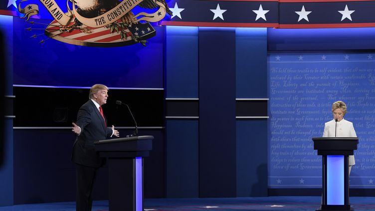 Le troisième débat Trump/Clinton le 19 octobre 2016 à Las Vegas  (ROBYN BECK / AFP)