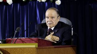 Alger, le 28 avril 2014 -Le président algérien Abdelaziz Bouteflika prête serment lundi pour un quatrième mandat lors d'une cérémonie retransmise à la télévision. (LOUAFI LARBI / REUTERS )