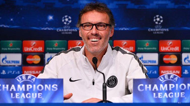 Laurent Blanc tout sourire avant PSG-Chelsea (MUSTAFA YALCIN / ANADOLU AGENCY)