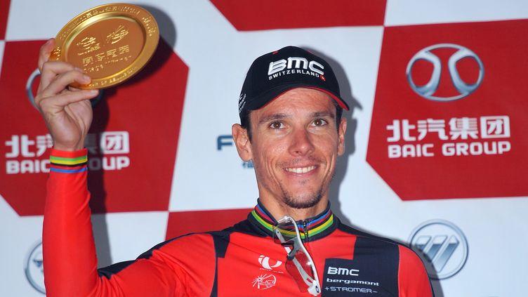 Philippe Gilbert sur la première marche du podium du Tour de Pékin (DE WAELE TIM / TDWSPORT SARL)
