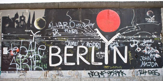 Graffitis sur le mur de Berlin  (Wilfried Kecichwost/AFP)