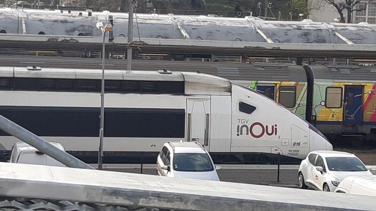 Deux TGV médicalisés doivent partir de Paris cette semaine, avec chacun àsonbord une vingtaine de patients atteints du Covid-19.   (PATRICK GENTHON / FRANCE-BLEU ALSACE (+ FB ELSASS))