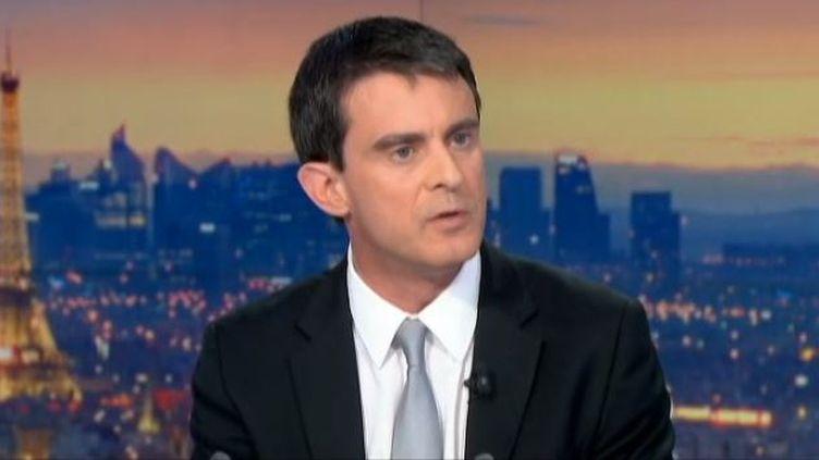 Capture d'écran le 16 avril 2014 -Manuel Valls est venu préciser son plan d'économies budgétaires dans le journal de 20 heures de France 2 (FRANCE 2 / FRANCETV INFO)