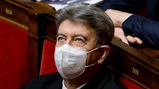 Jean-Luc Mélenchon, le 10 novembre 2020, à l'Assemblée nationale. (THOMAS COEX / AFP)