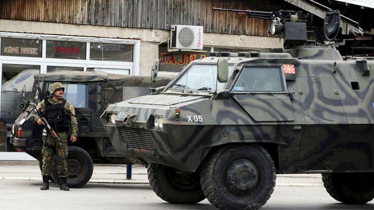 (Les affrontements se sont déroulés dans le nord de la Macédoine, à Kumanovo © Reuters-Ognen Teofilovski)