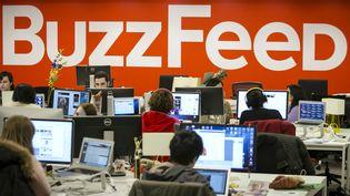 Les employés de BuzzFeed aux Etats-Unis, à New York le 23 février 2014. (BRENDAN MCDERMID / REUTERS)