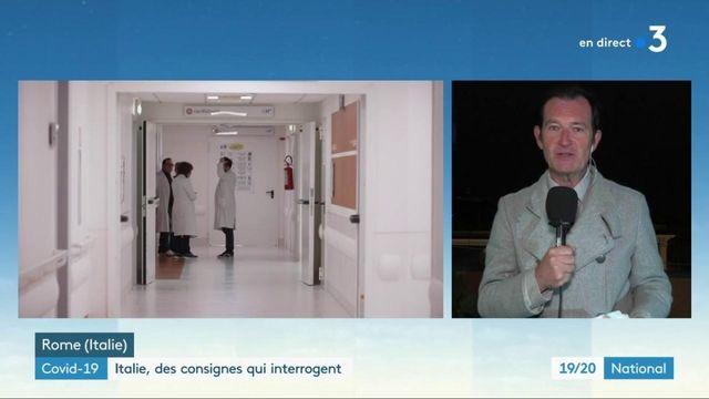 Covid-19 : en Italie, polémique autour de certaines consignes médicales