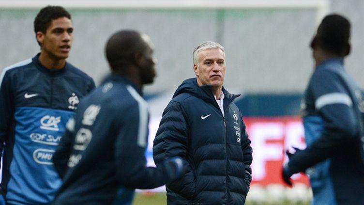 Deschamps lors d'une séance d'entraînement des Bleus (FRANCK FIFE / AFP)