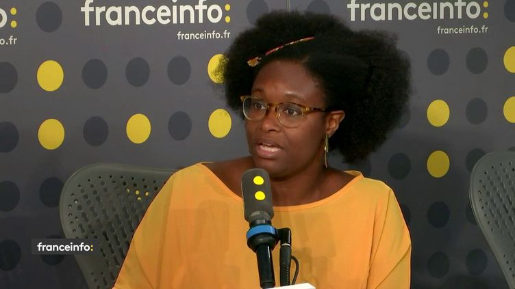 Sibeth Ndiayeétait l'invitée de franceinfo mercredi 27 novembre. (FRANCEINFO / RADIOFRANCE)