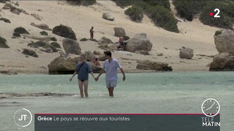 Des touristes en Grèce. (France 2)
